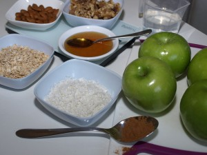 healthy apple crumble