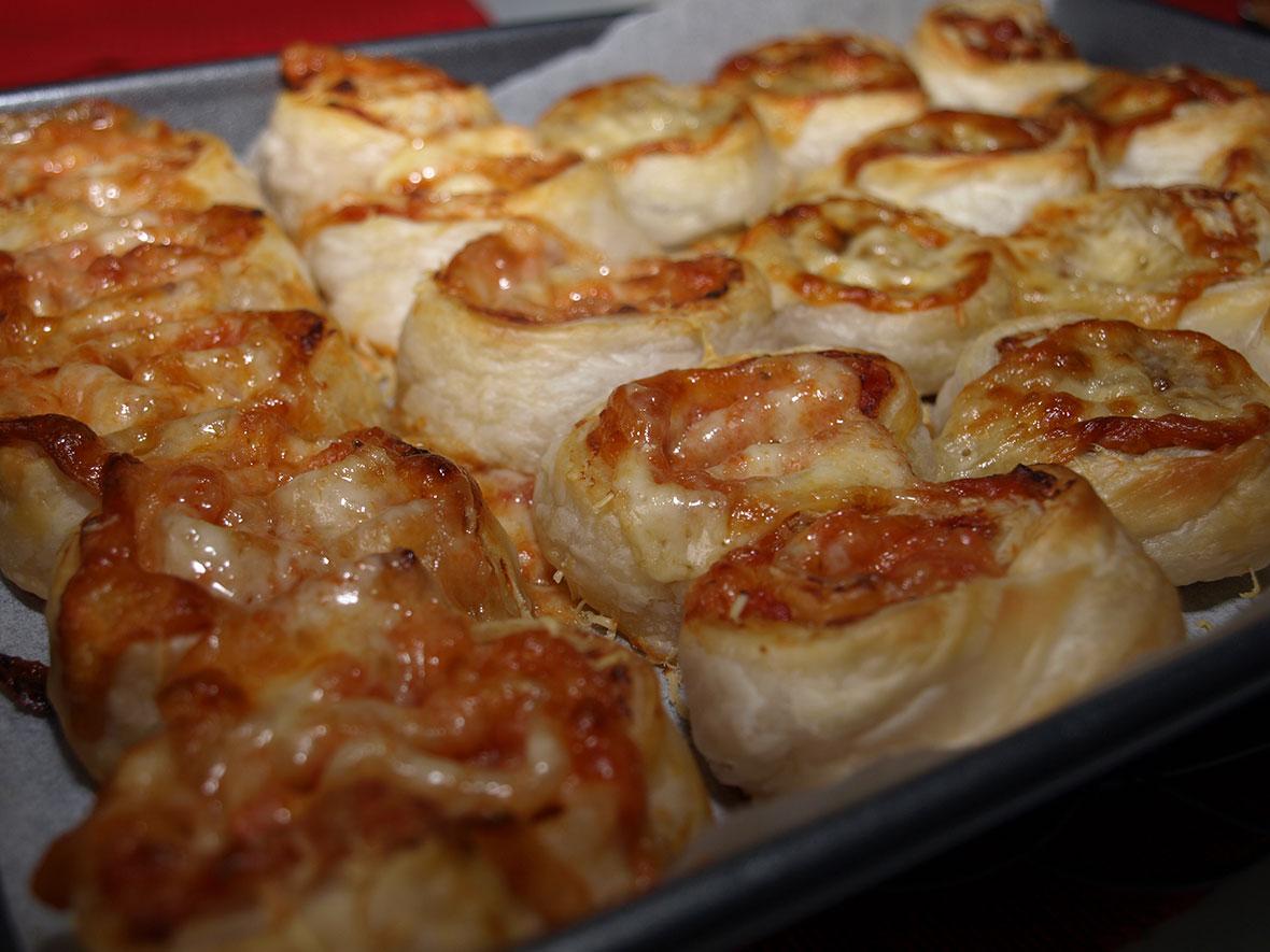 vegemite and pizza scrolls