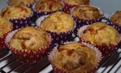 savoury muffins with cheese and pumpkin
